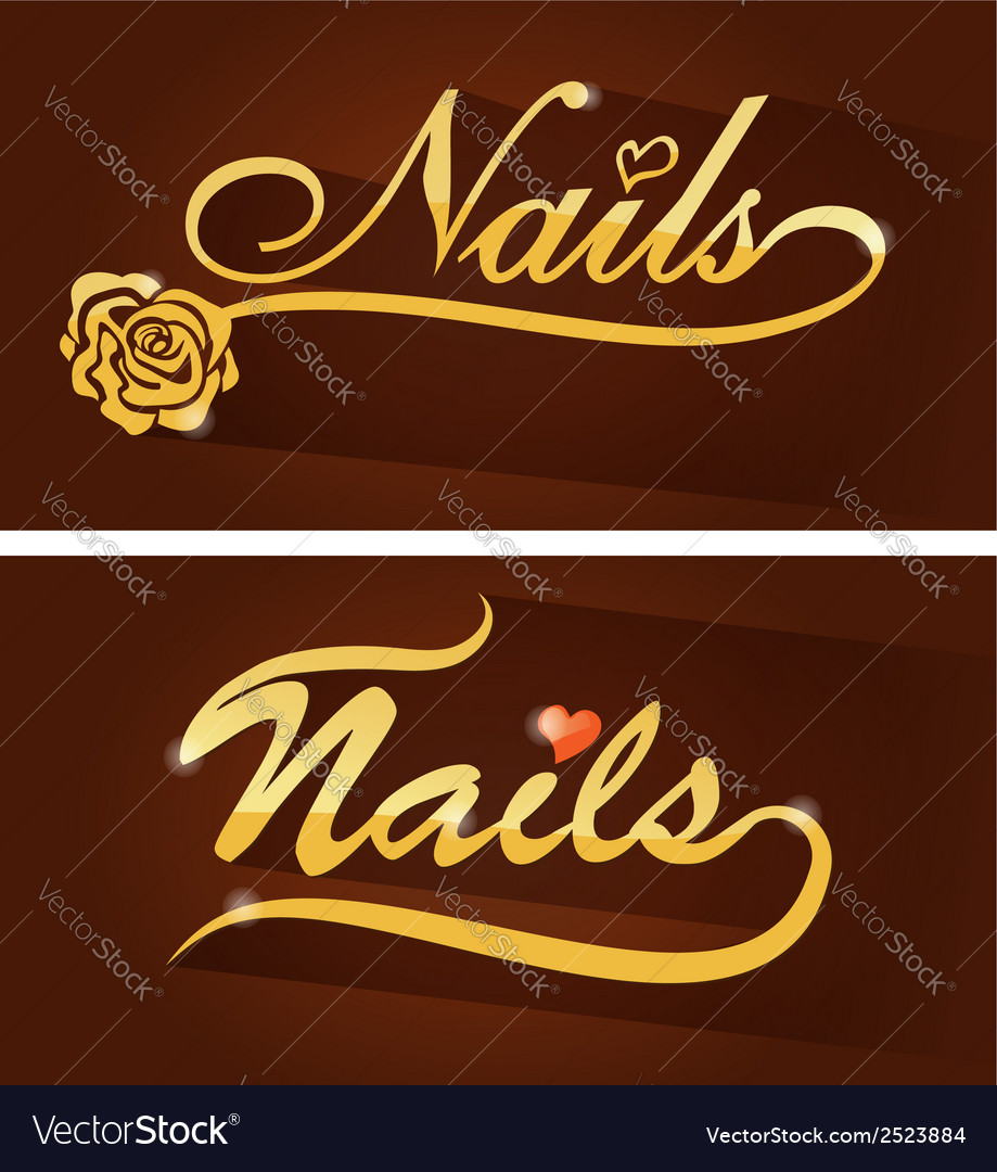 Nails saloon symbol vector | Price: 1 Credit (USD $1)