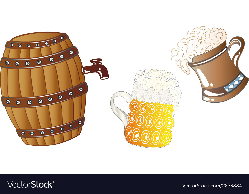 Oktoberfest drinks vector | Price: 1 Credit (USD $1)