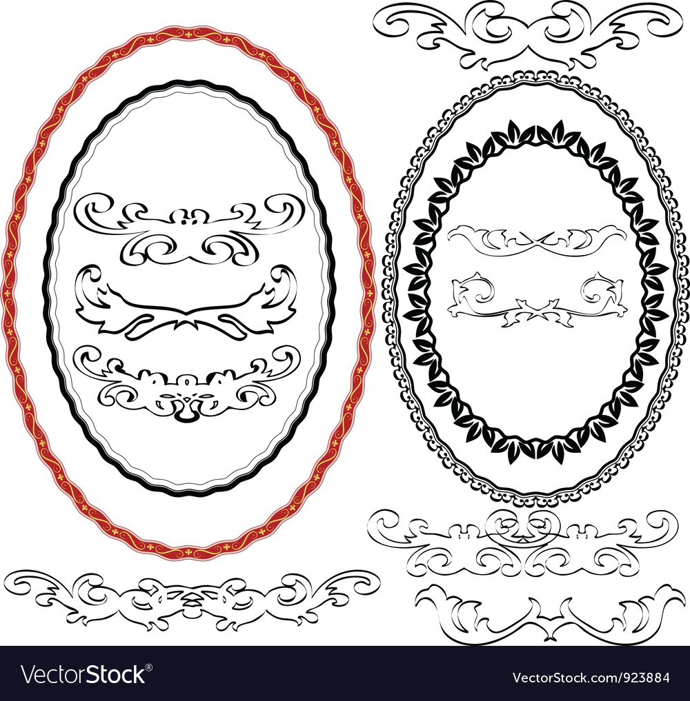 Oval border vector | Price: 1 Credit (USD $1)