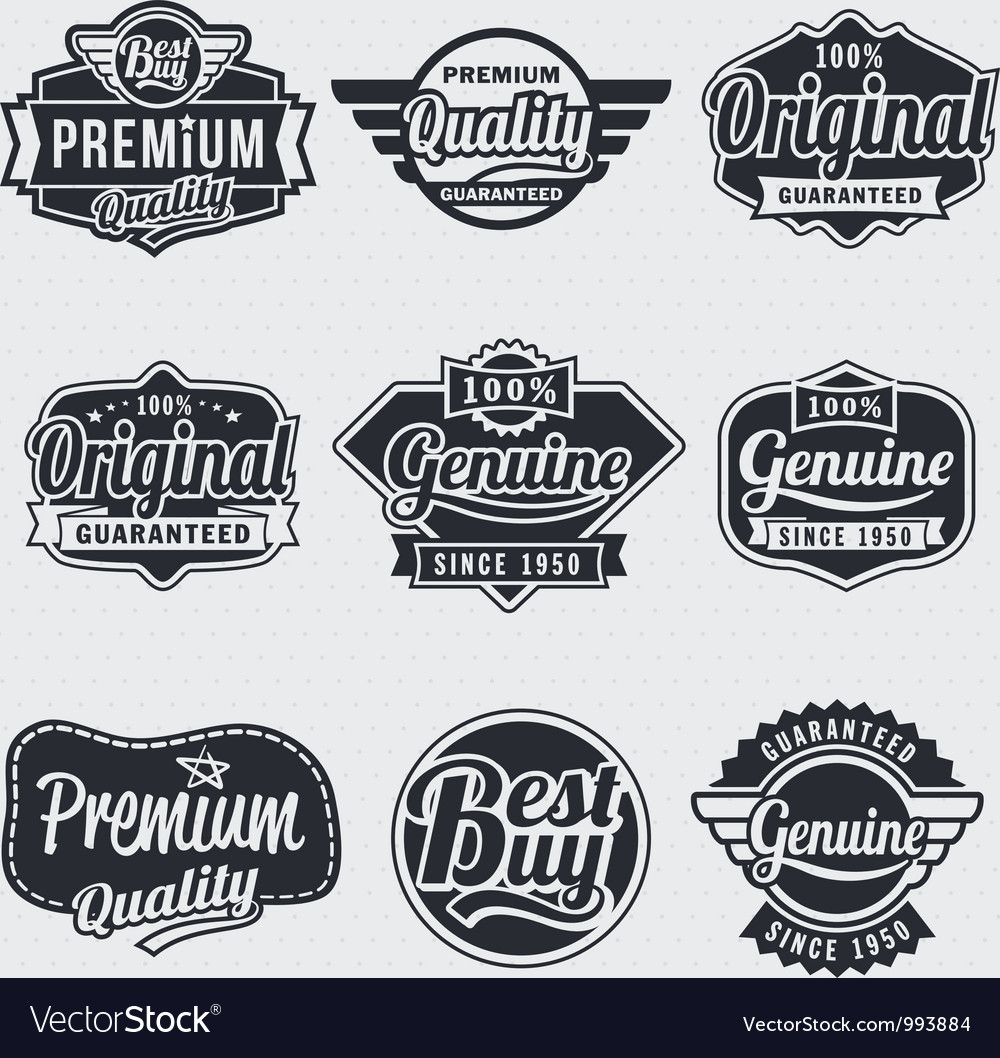 Retro vintage label set vector | Price: 1 Credit (USD $1)