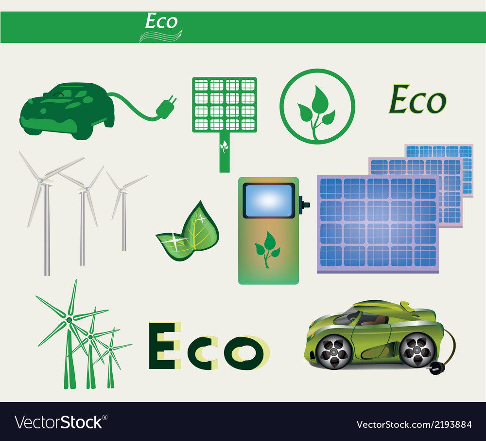 Set eco vector | Price: 1 Credit (USD $1)