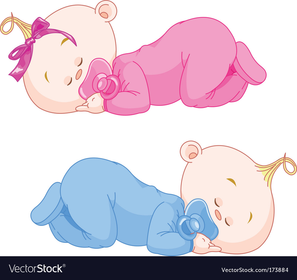 Sleeping babies vector | Price: 3 Credit (USD $3)