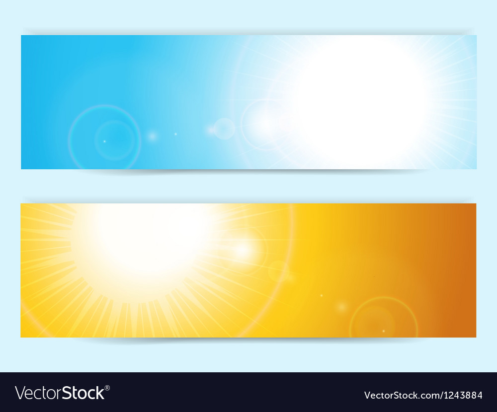 Summer sky banners vector | Price: 1 Credit (USD $1)