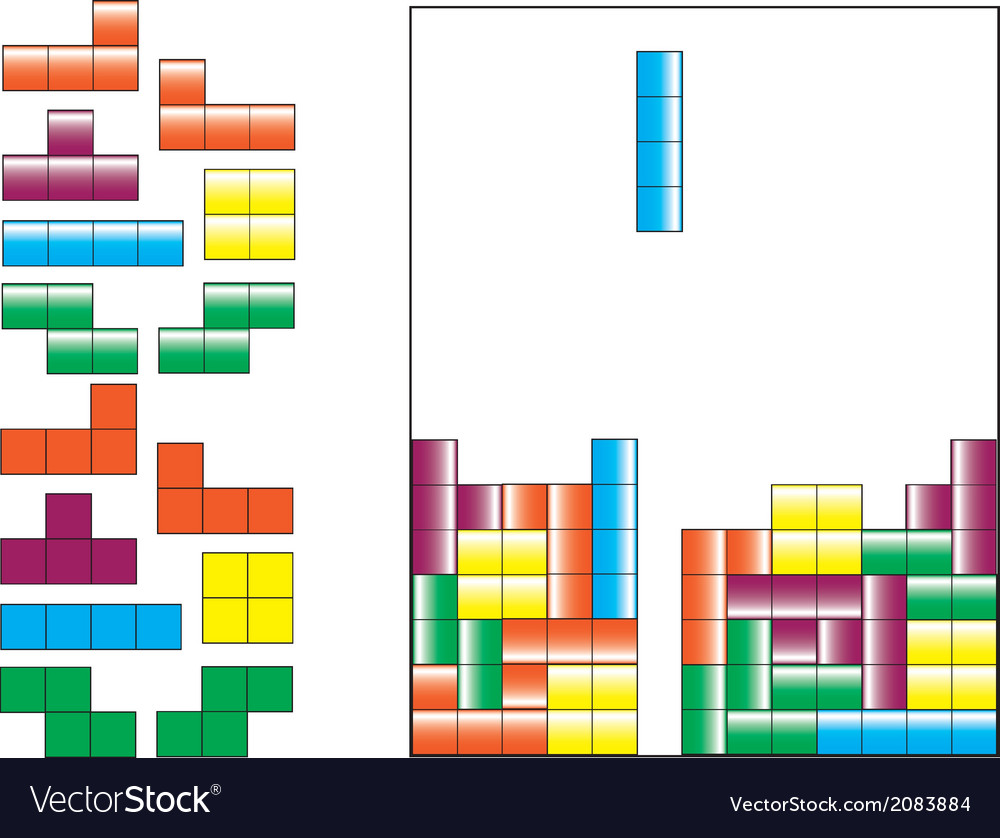 Tetris pieces vector | Price: 1 Credit (USD $1)