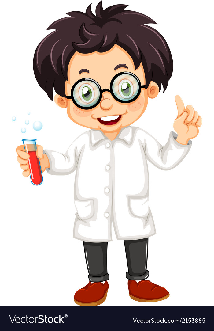 A scientist vector | Price: 1 Credit (USD $1)