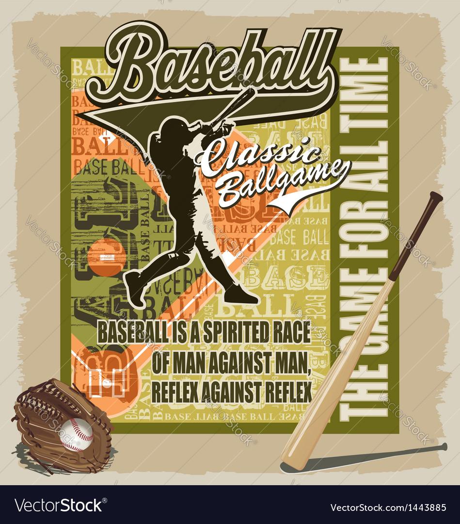 Baseball sport game vector | Price: 1 Credit (USD $1)