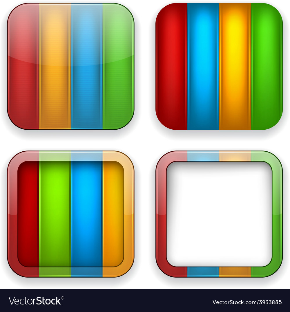 Blank color app icons vector | Price: 1 Credit (USD $1)