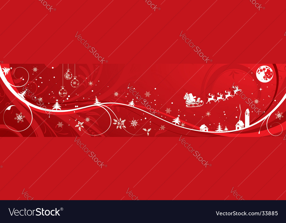 Christmas background banner vector | Price: 1 Credit (USD $1)