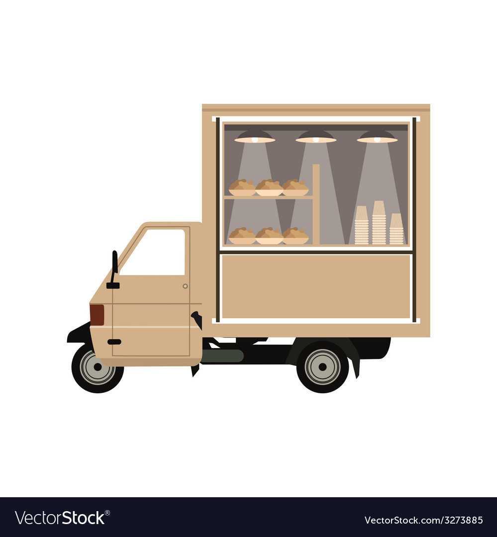 Coffee car vector | Price: 1 Credit (USD $1)