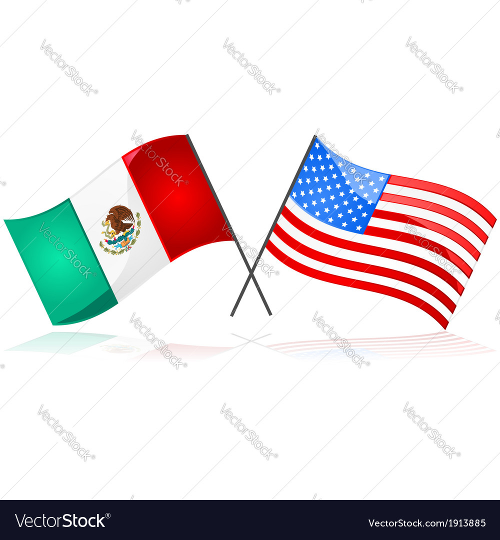 Mexico and the united states vector | Price: 1 Credit (USD $1)