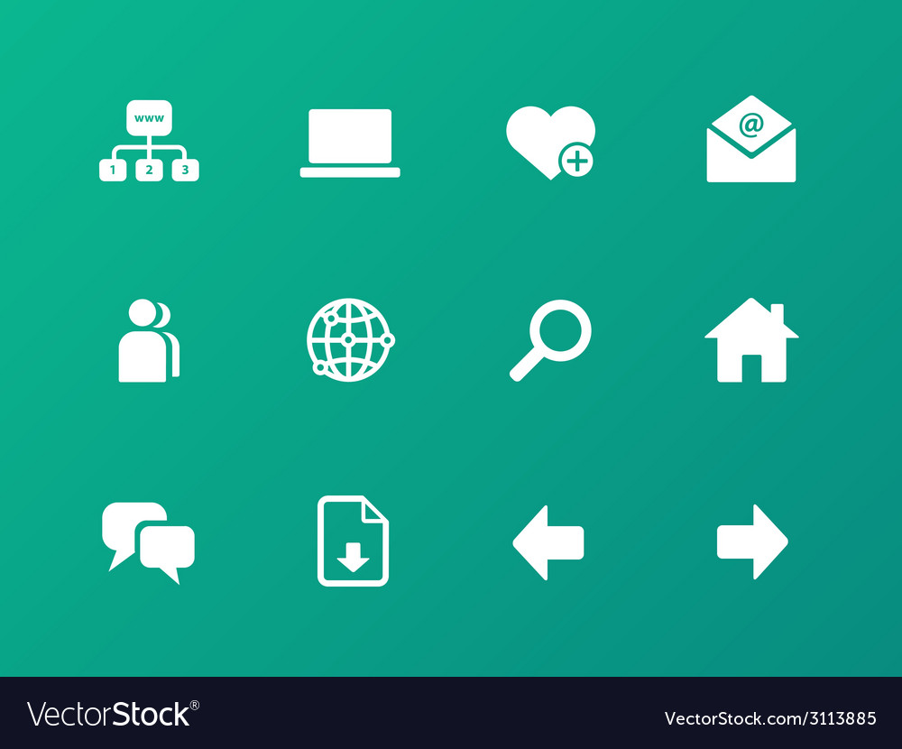 Network icons on green background vector | Price: 1 Credit (USD $1)