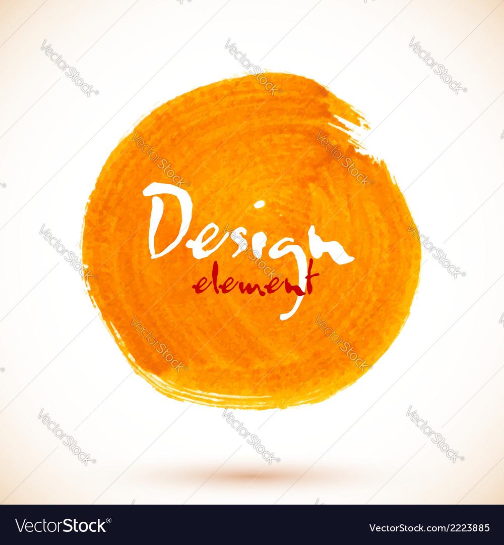 Orange isolated acrylic paint circle vector | Price: 1 Credit (USD $1)