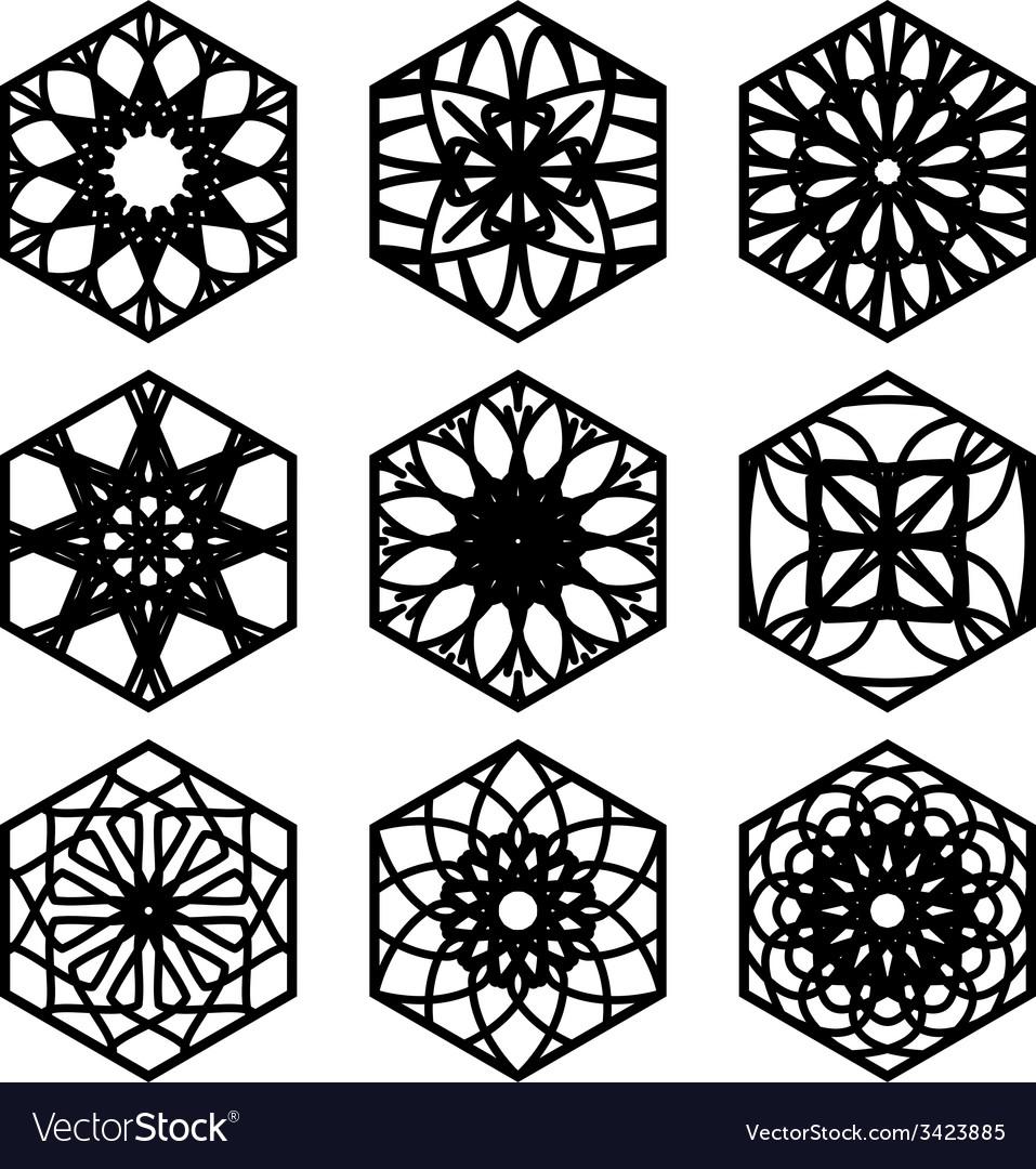 Square ornament set vector   Price: 1 Credit (USD $1)