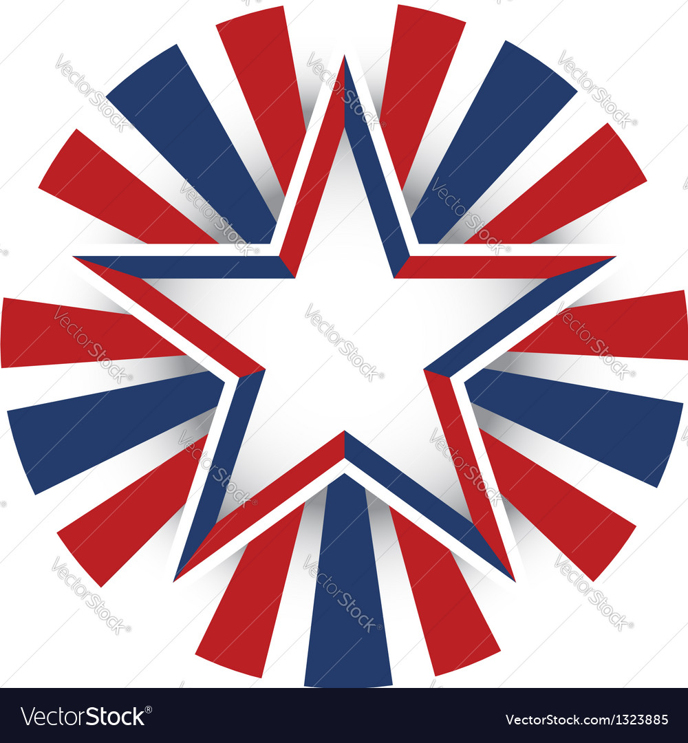 Usa star celebration vector | Price: 1 Credit (USD $1)