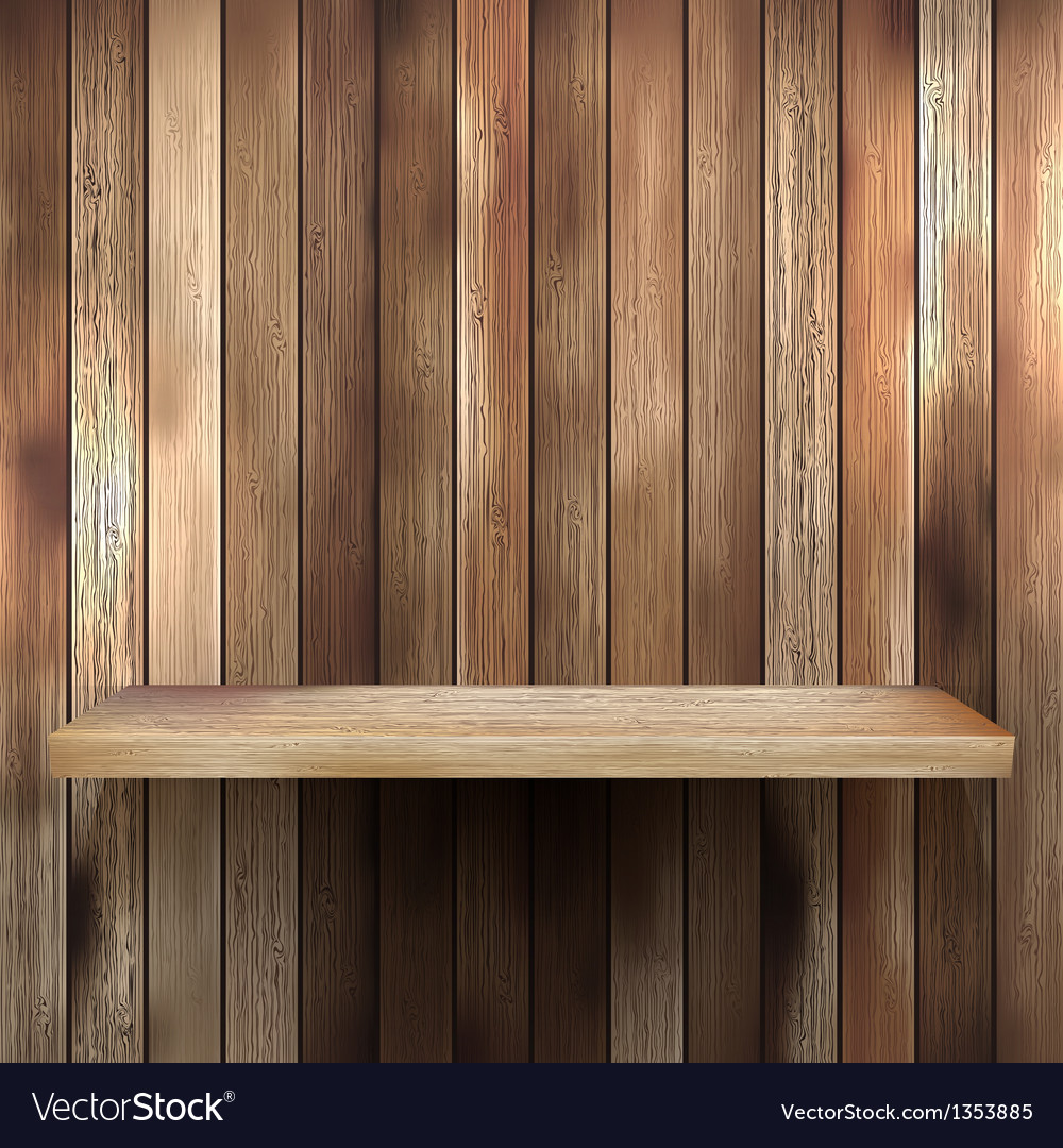 Wood shelf for exhibit eps 10 vector | Price: 1 Credit (USD $1)