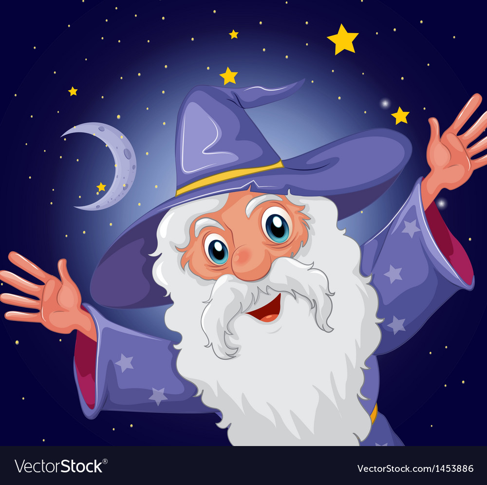 A happy old wizard vector | Price: 1 Credit (USD $1)