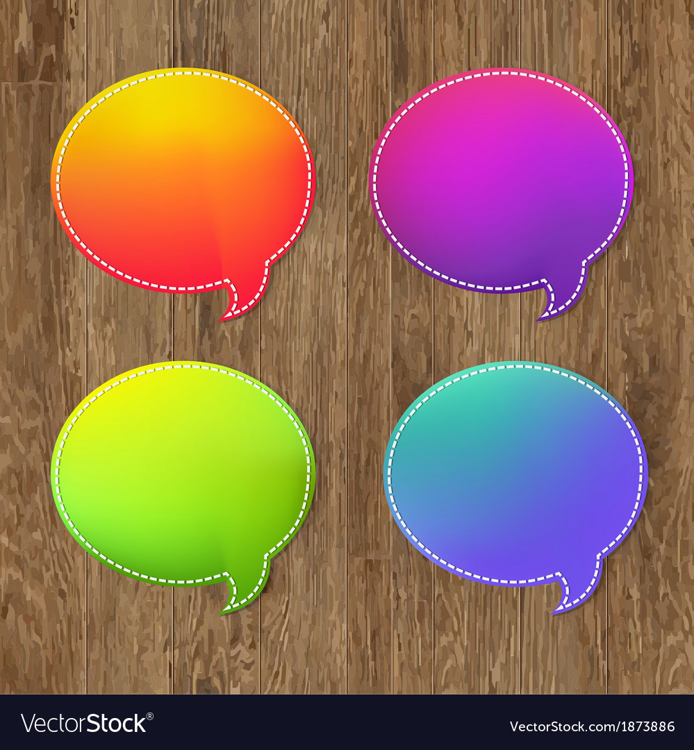 Antique wooden background with speech bubble vector | Price: 1 Credit (USD $1)