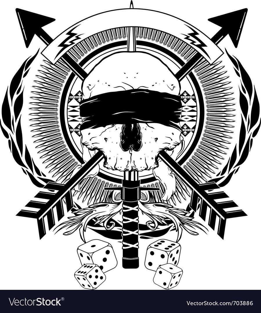 Arrows dice and sword skull graphic vector   Price: 1 Credit (USD $1)