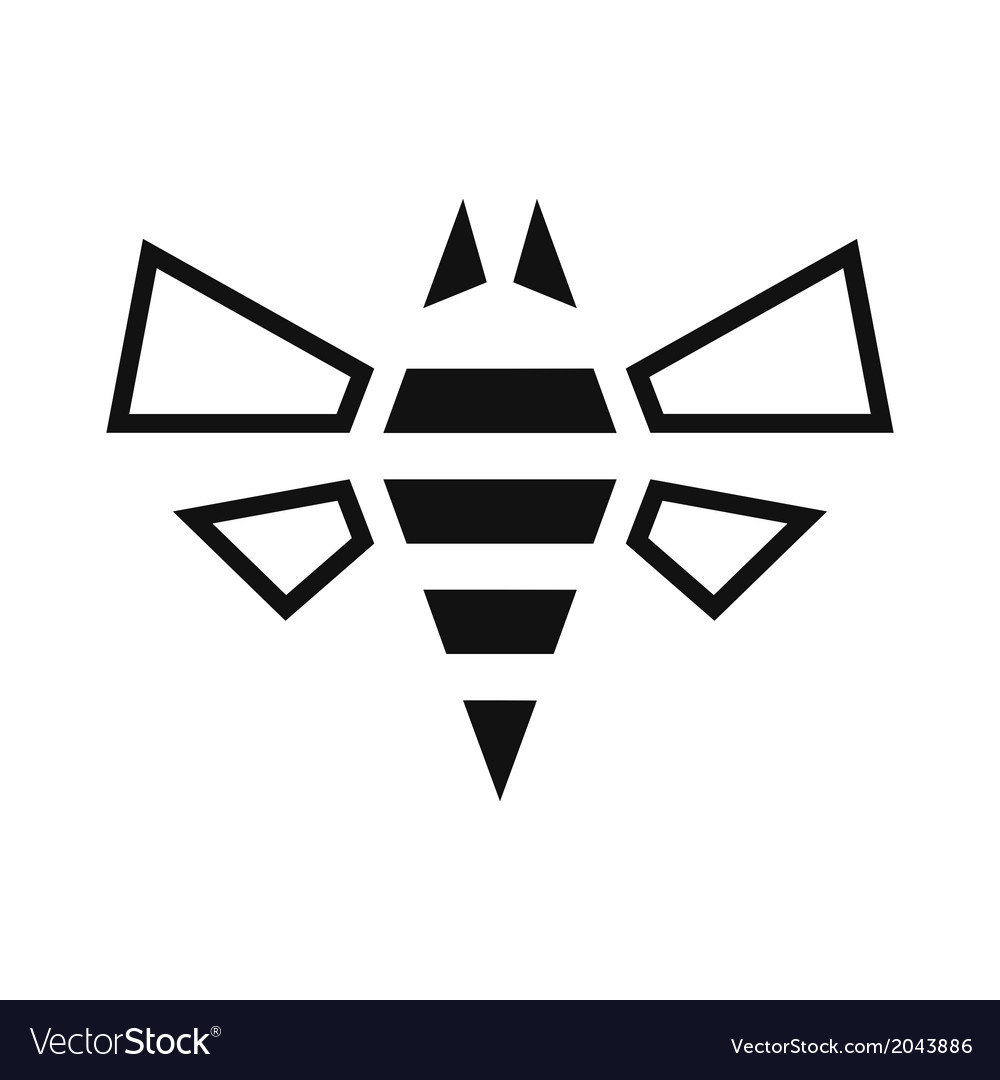 Bee  icon vector | Price: 1 Credit (USD $1)