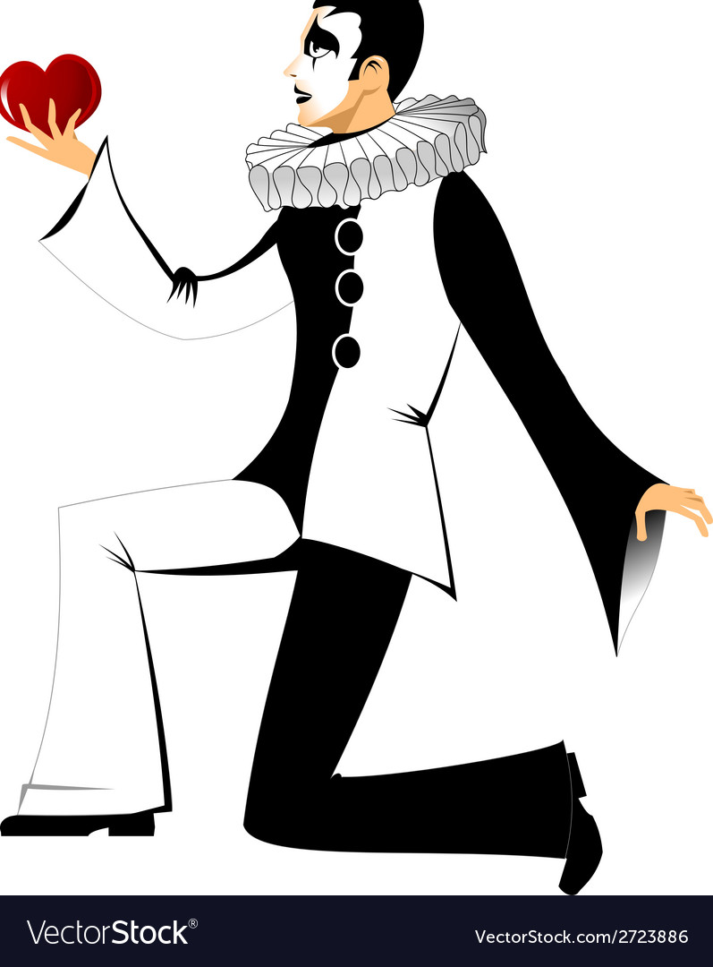 Black and white clown vector | Price: 1 Credit (USD $1)