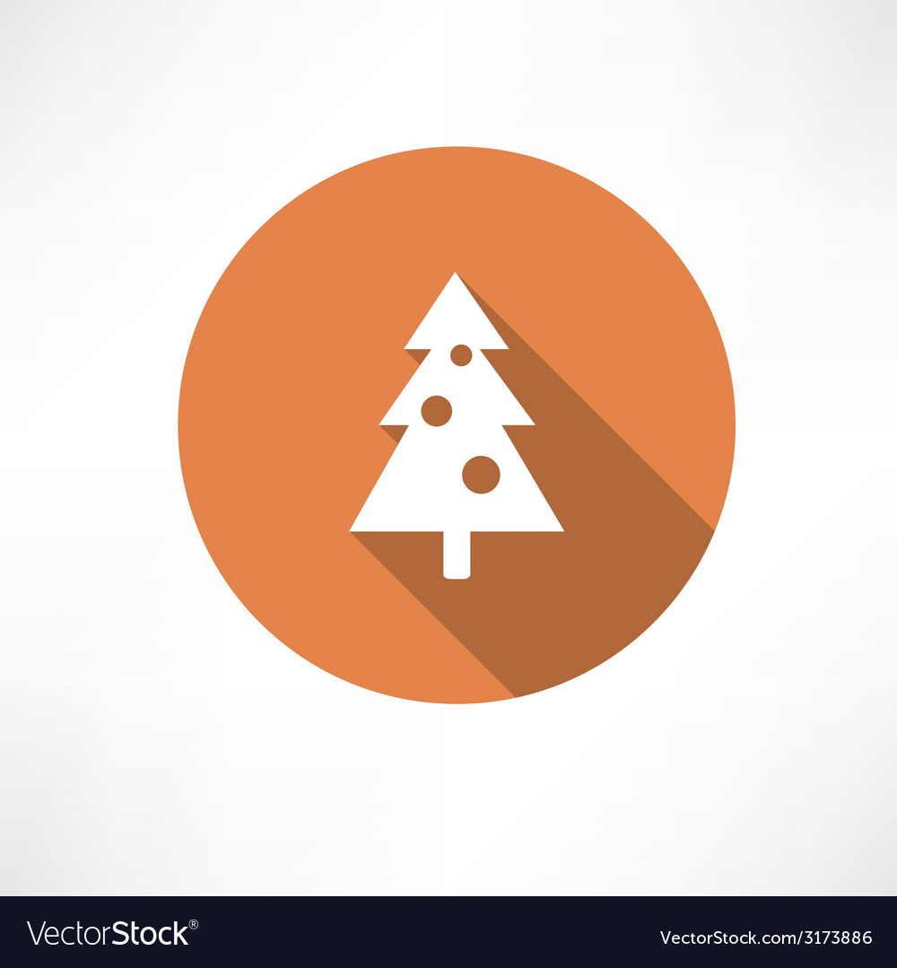Christmas tree with toys icon vector | Price: 1 Credit (USD $1)
