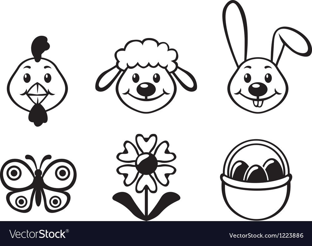 Easten funny set vector | Price: 1 Credit (USD $1)