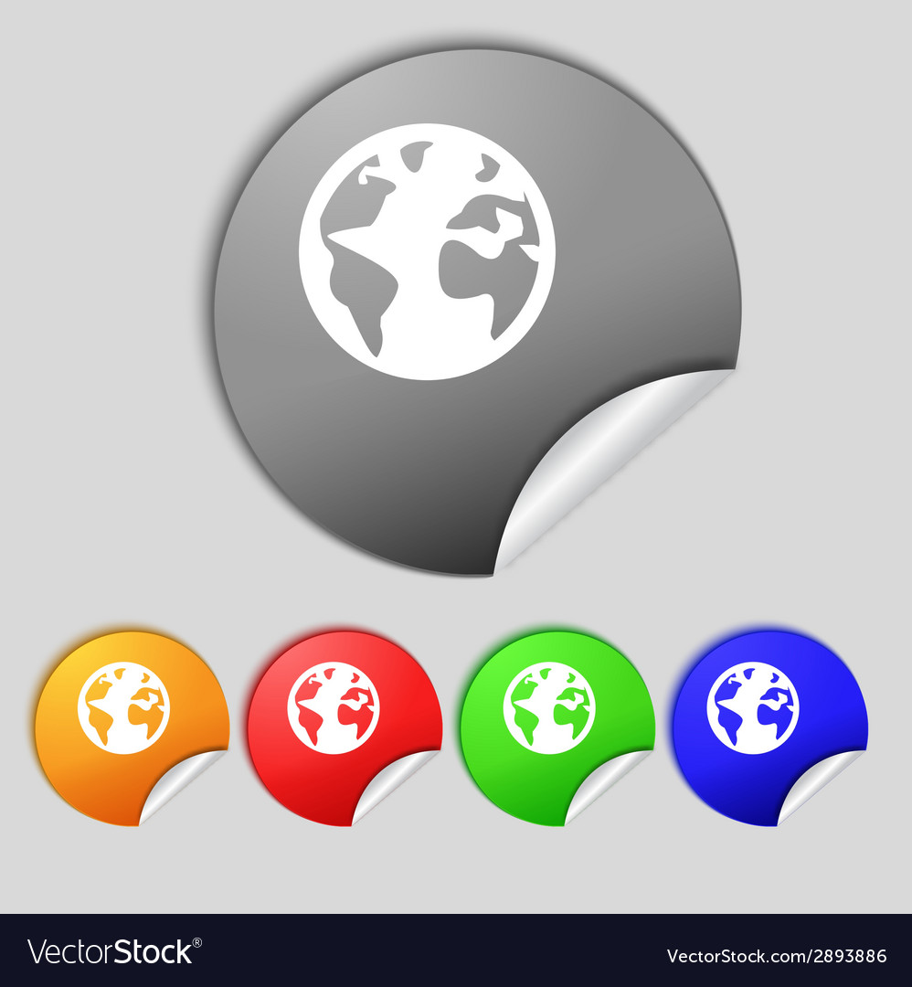 Globe sign icon world map geography symbol globes vector | Price: 1 Credit (USD $1)