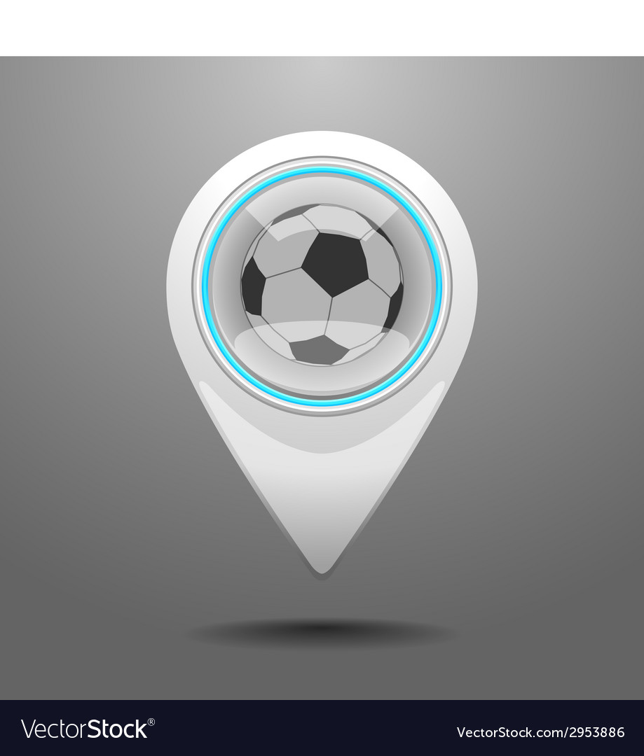 Glossy football stadium icon vector | Price: 1 Credit (USD $1)