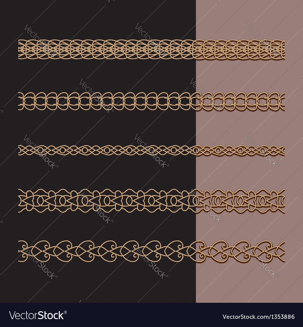Gold chains set vector | Price: 1 Credit (USD $1)