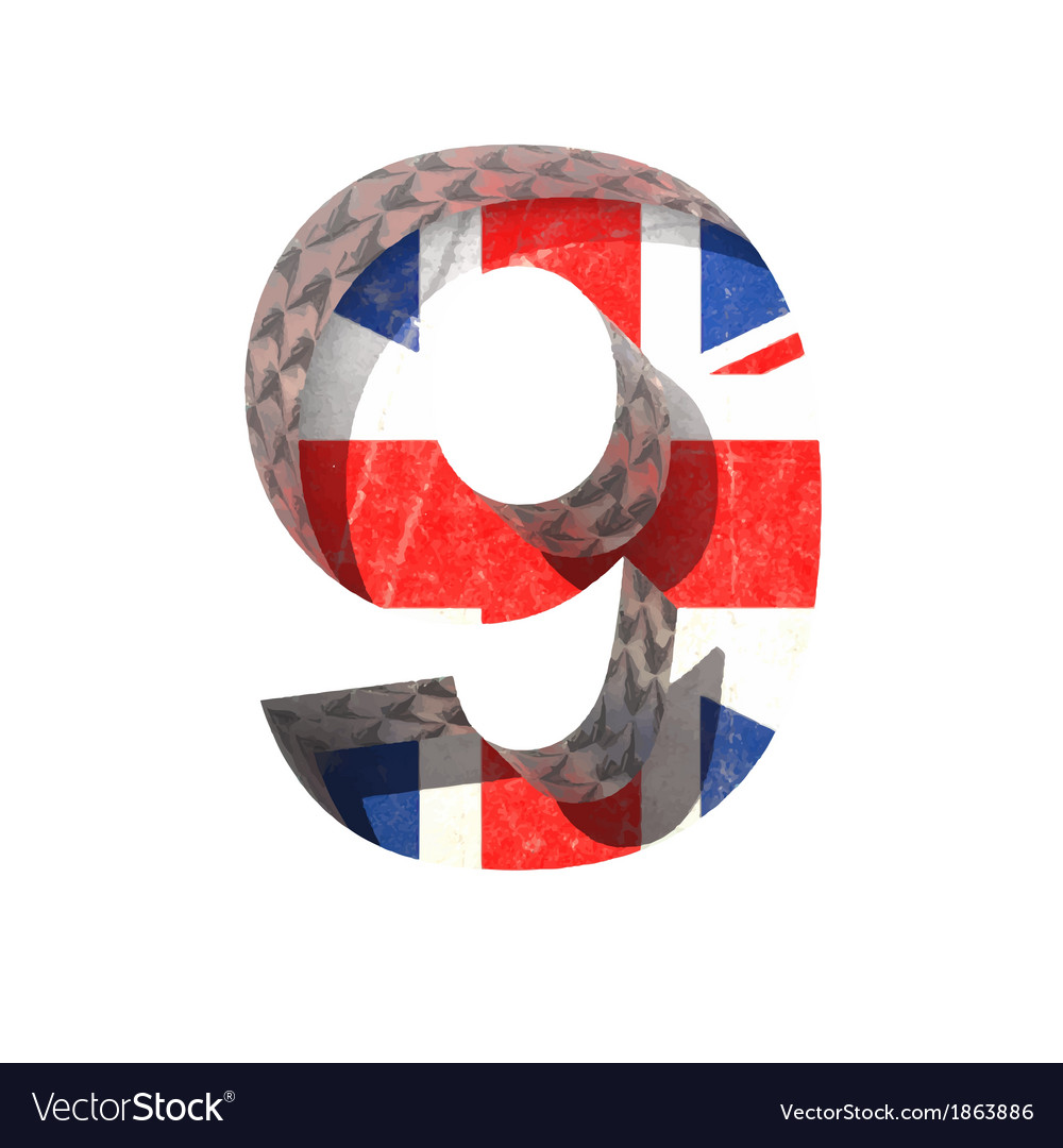Great britain cutted figure 9 paste to any vector | Price: 1 Credit (USD $1)