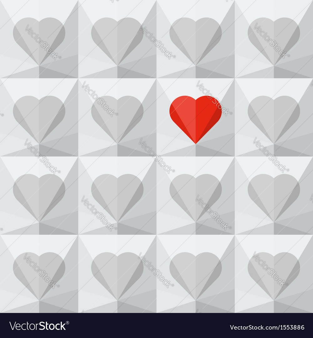 Light grey crystal hearts with one different vector | Price: 1 Credit (USD $1)