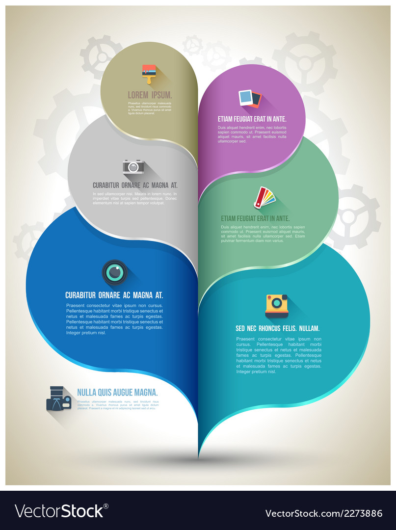 Modern business bubble speech template vector | Price: 1 Credit (USD $1)
