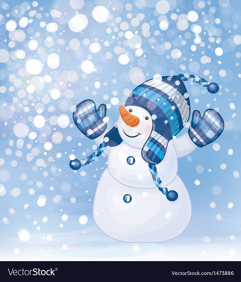 Snowman snow vector | Price: 1 Credit (USD $1)