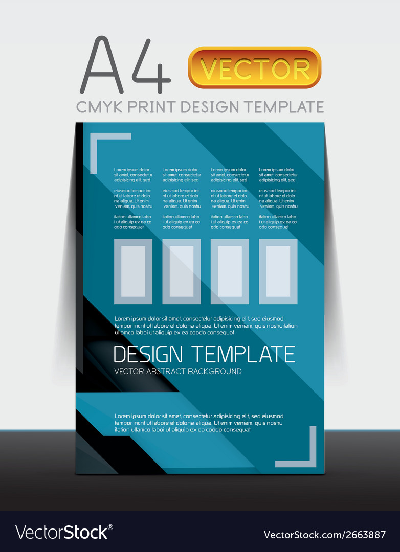 Abstract flyer brochure design template vector | Price: 1 Credit (USD $1)