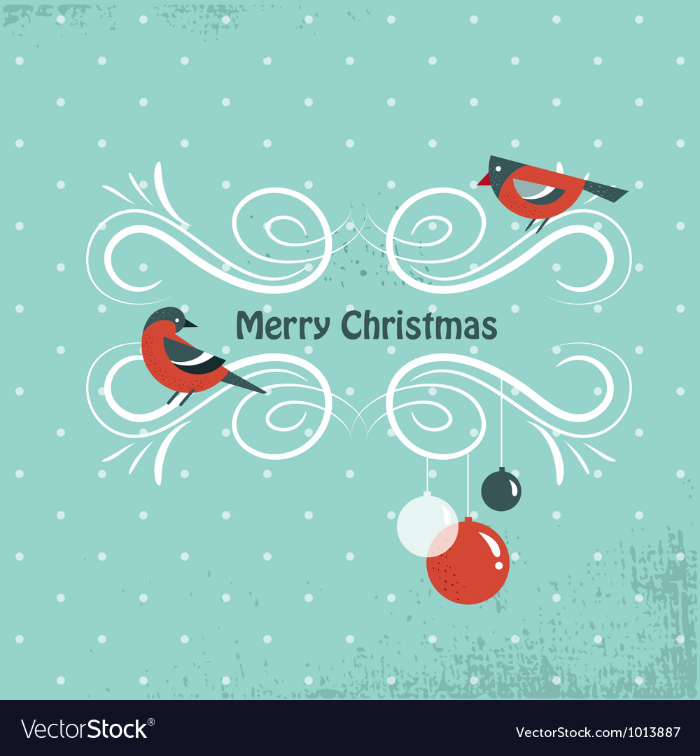Christmas background with birds and holly leafs vector | Price: 1 Credit (USD $1)