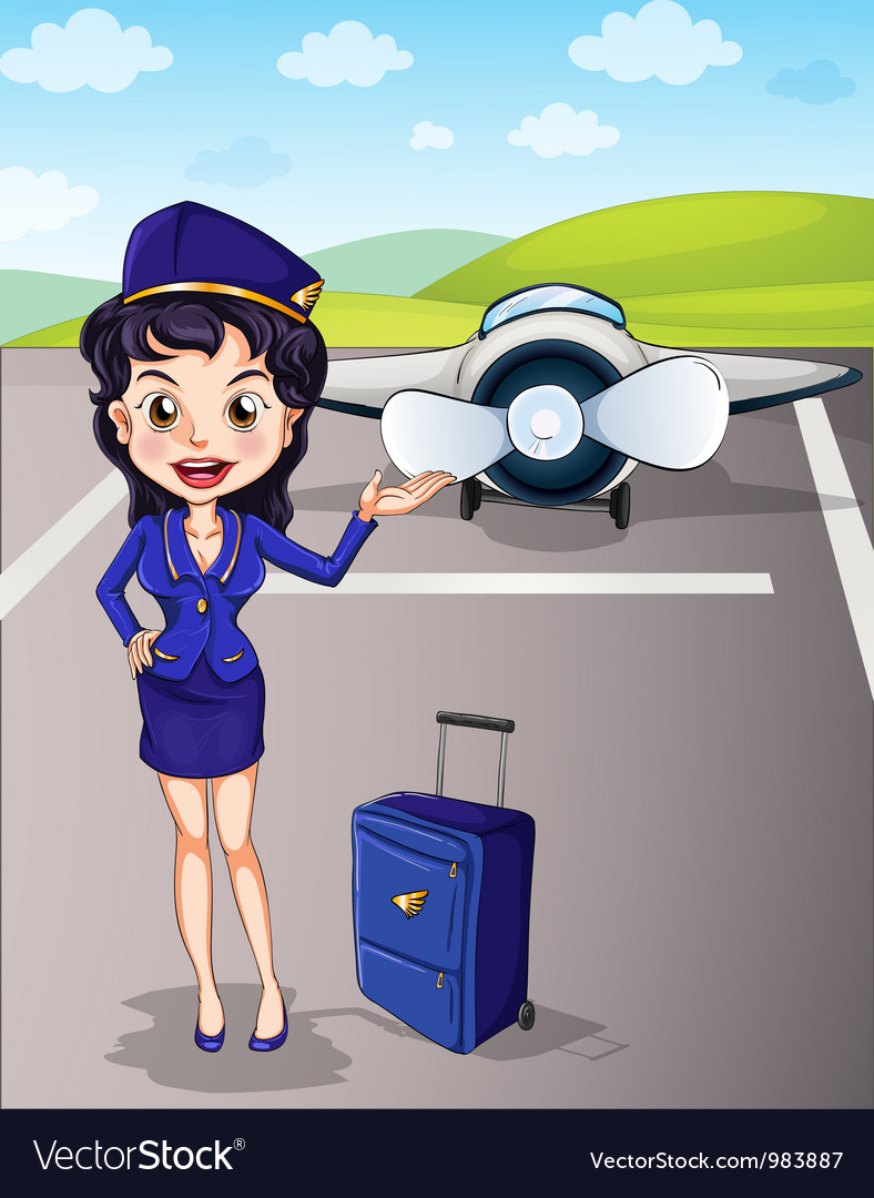 Flight attendant vector | Price: 3 Credit (USD $3)