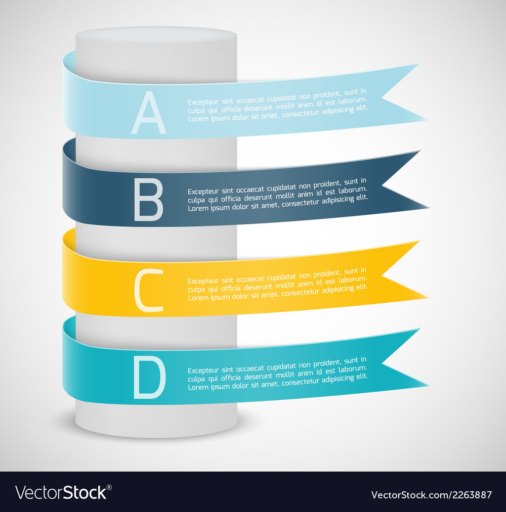 Set of ribbons infographic design vector | Price: 1 Credit (USD $1)