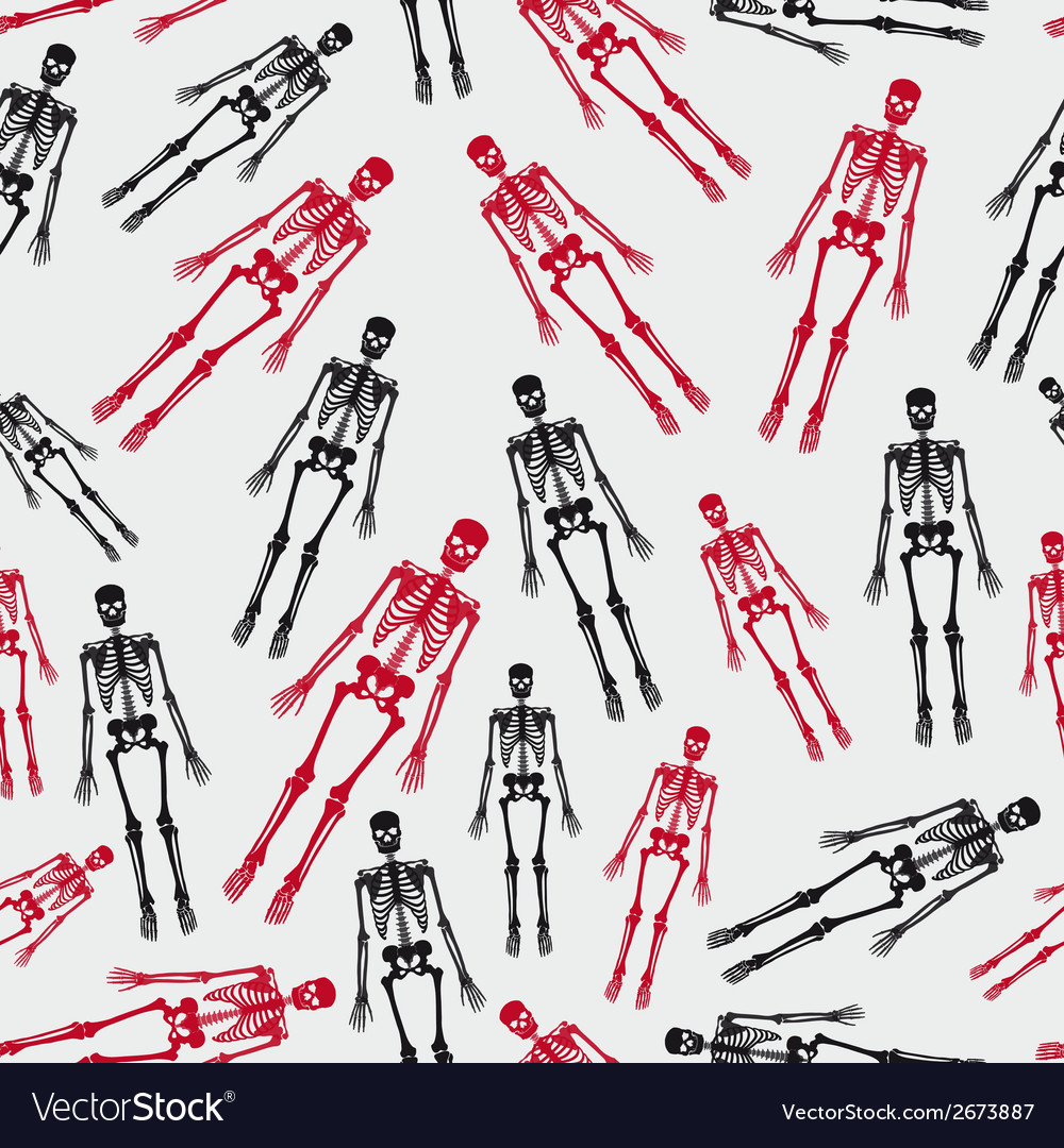 Skeletons seamless pattern eps10 vector | Price: 1 Credit (USD $1)