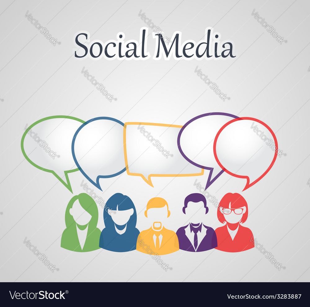 Social media people group vector | Price: 1 Credit (USD $1)