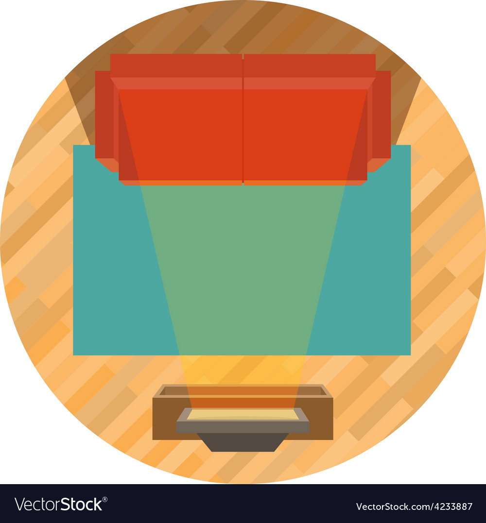 Sofa and tv top view vector | Price: 3 Credit (USD $3)