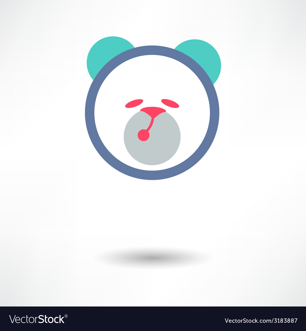 Teddy bear toy - icon isolated vector | Price: 1 Credit (USD $1)