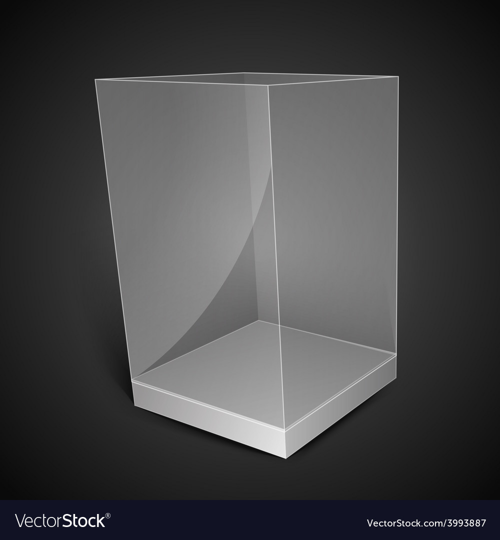 White glass rectangle box vector | Price: 1 Credit (USD $1)