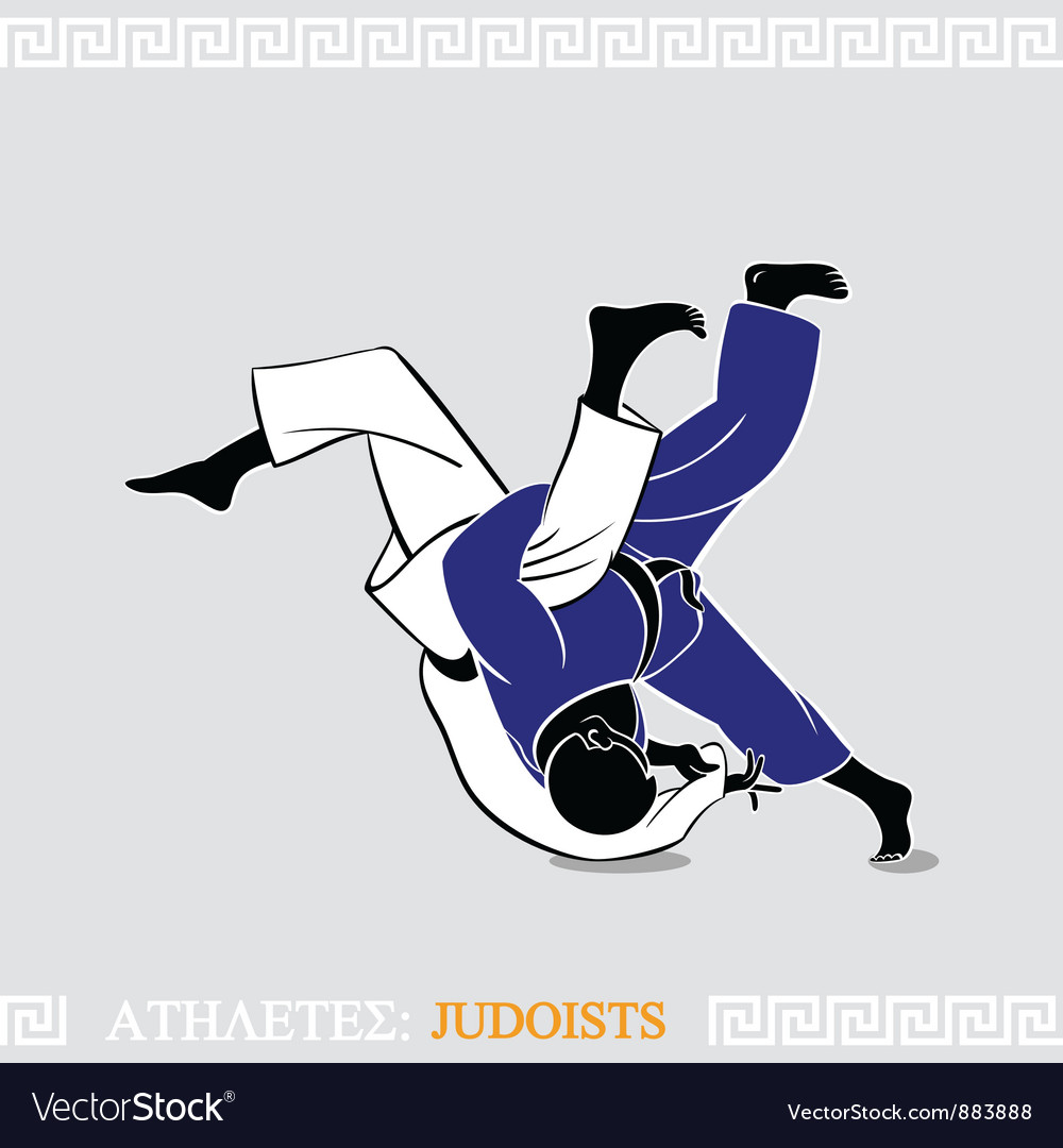 Athlete judoists vector | Price: 3 Credit (USD $3)