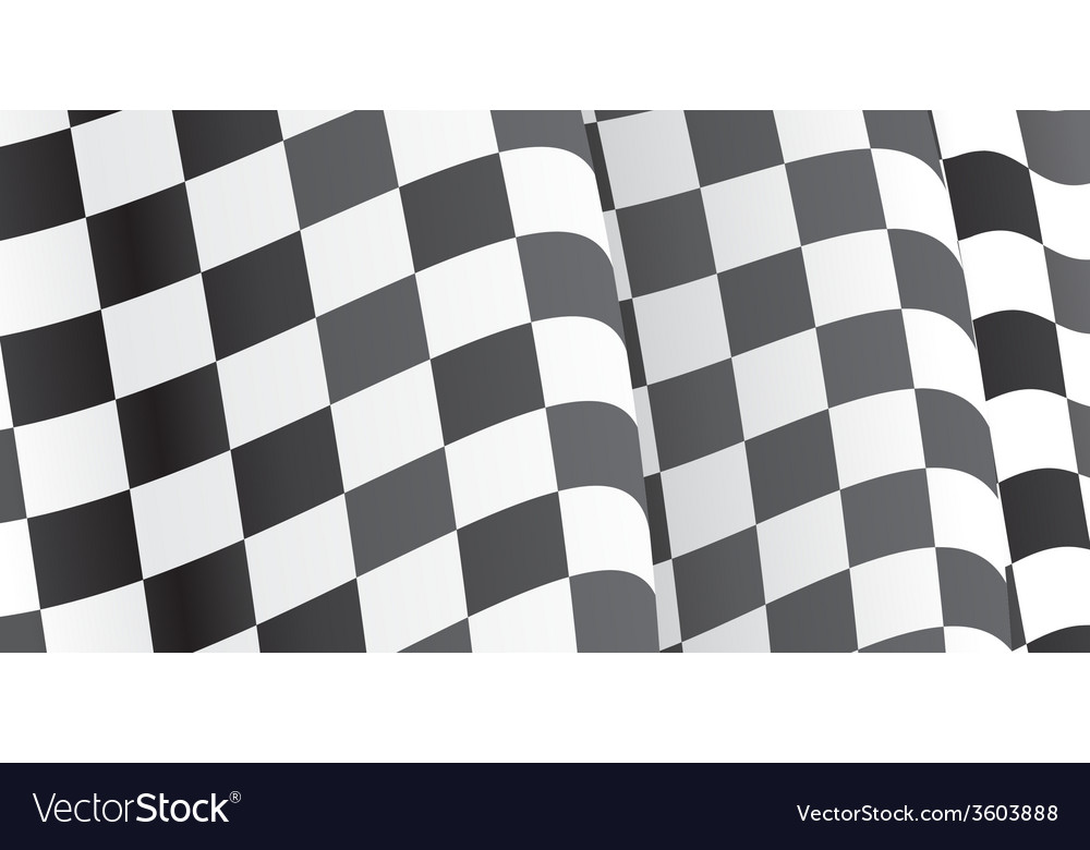 Background with waving racing flag vector | Price: 1 Credit (USD $1)