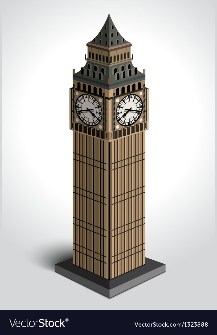Big ben tower vector | Price: 3 Credit (USD $3)