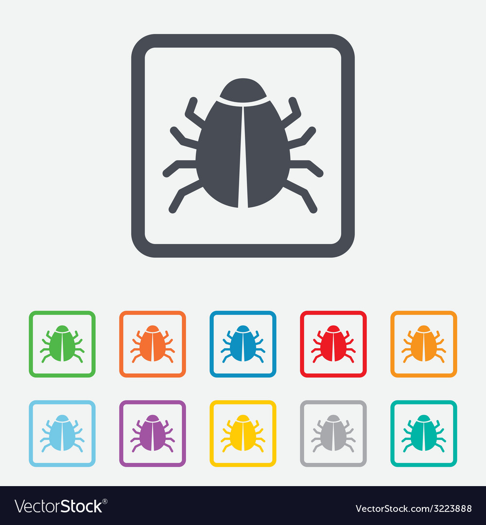 Bug sign icon virus symbol software bug error vector | Price: 1 Credit (USD $1)