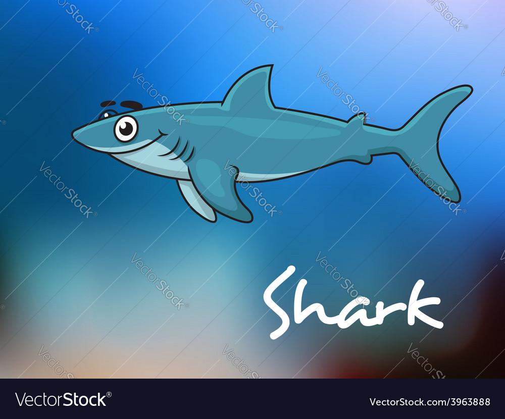 Cartoon shark in sea vector | Price: 1 Credit (USD $1)