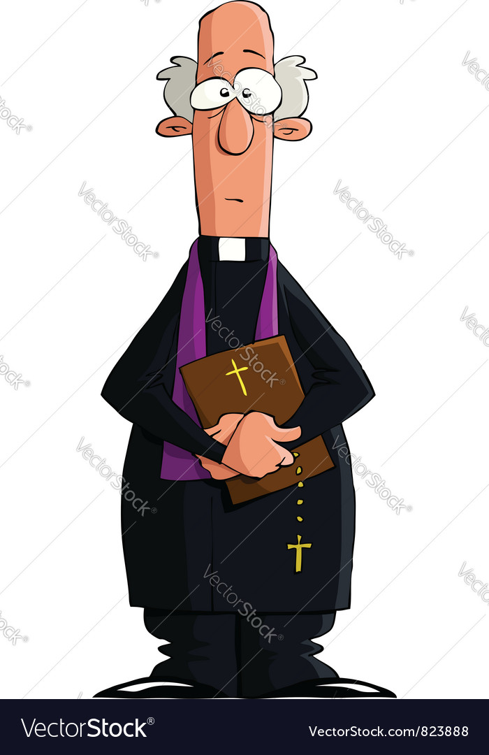 Catholic priest vector | Price: 1 Credit (USD $1)