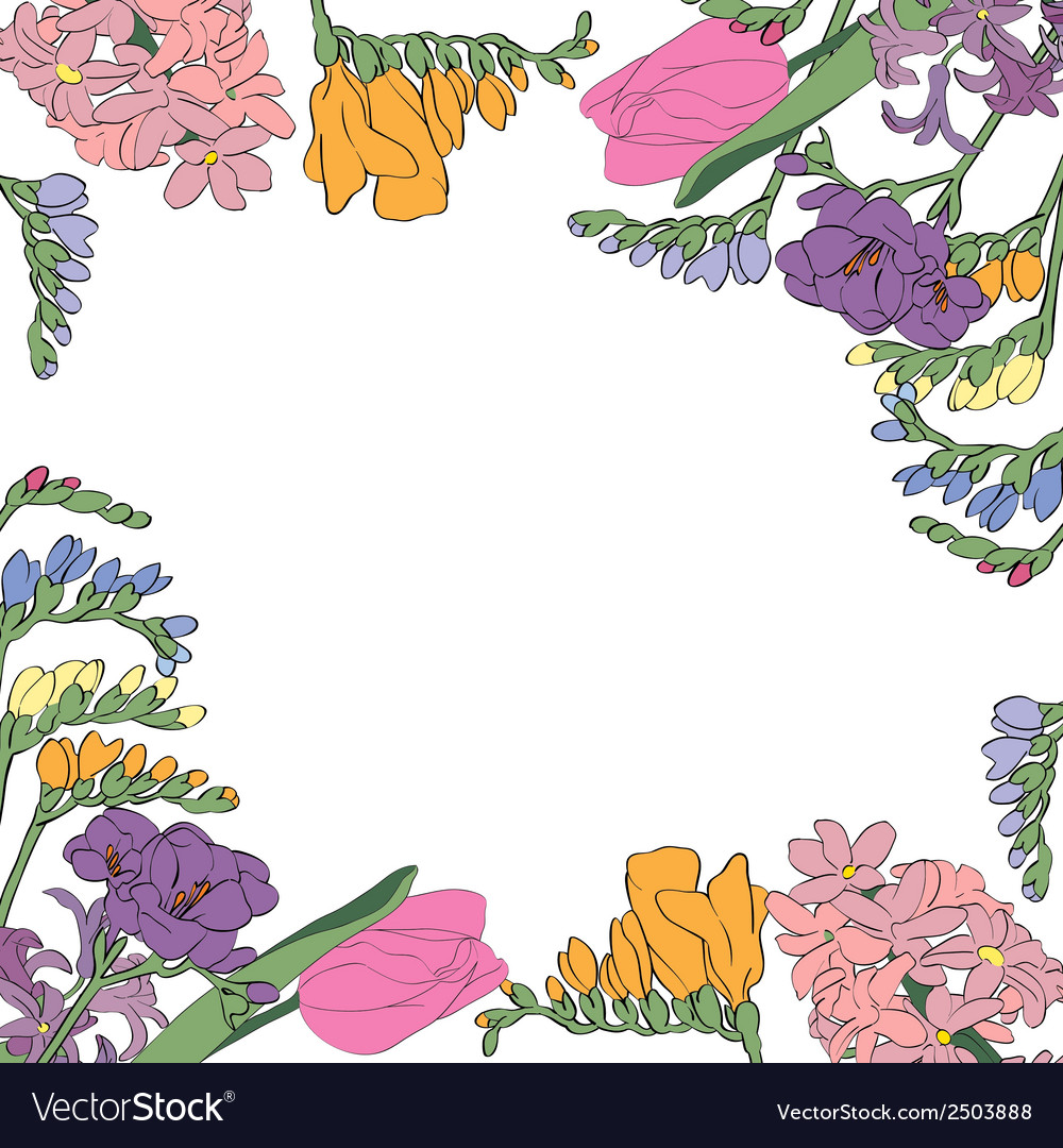 Flowers card vector | Price: 1 Credit (USD $1)