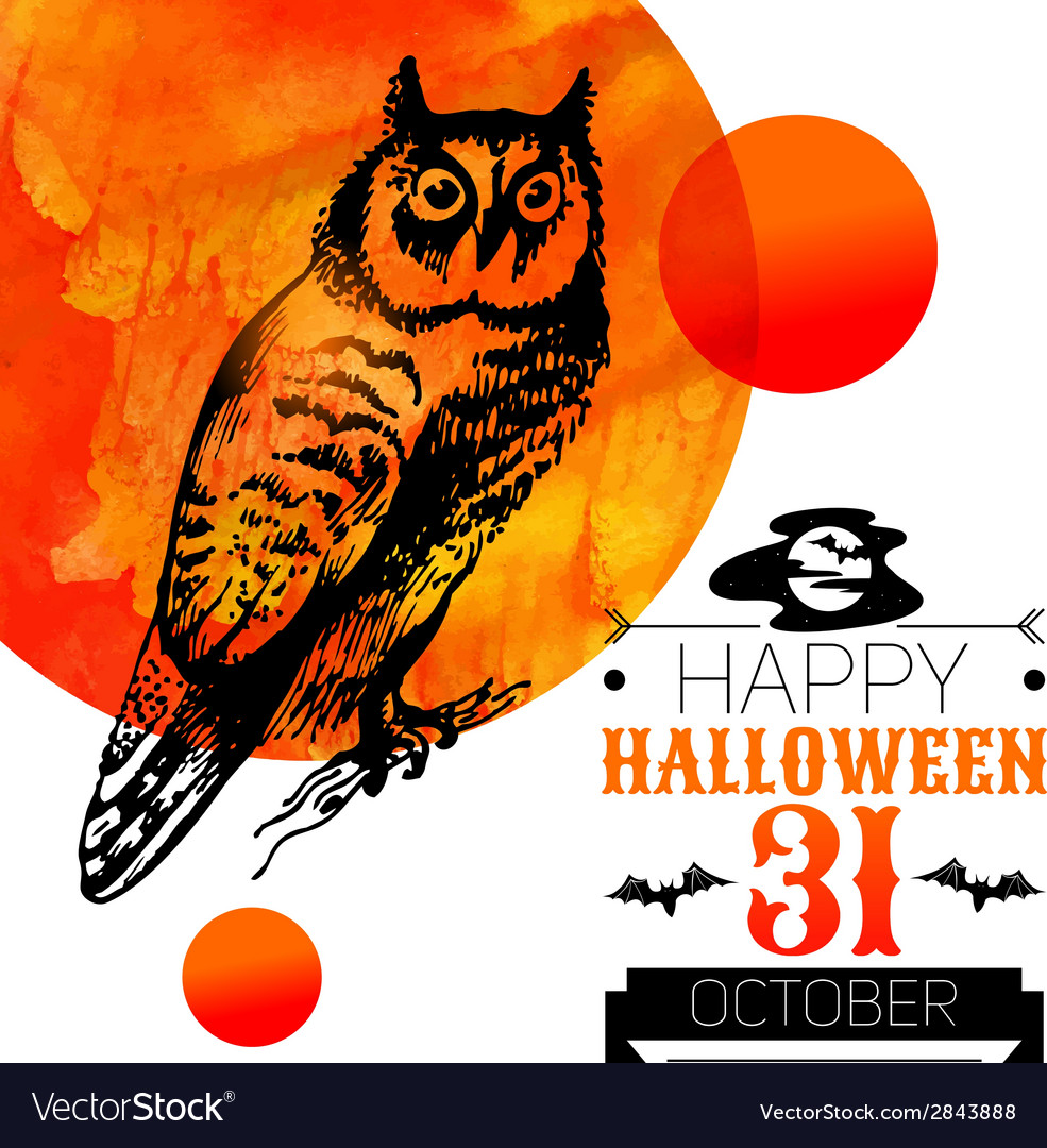 Halloween background typographic poster vector | Price: 1 Credit (USD $1)